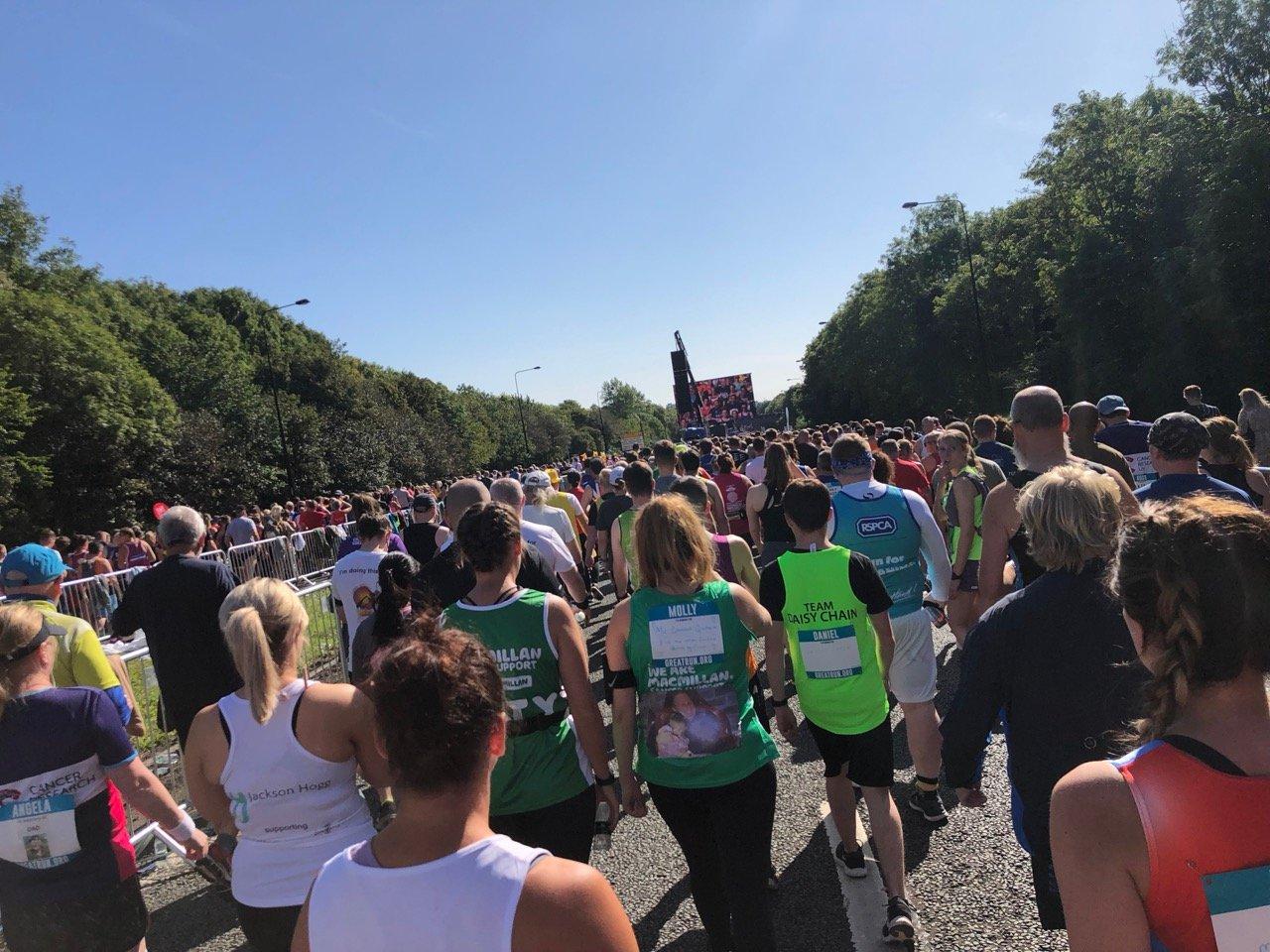 At the start, Great North Run 2019